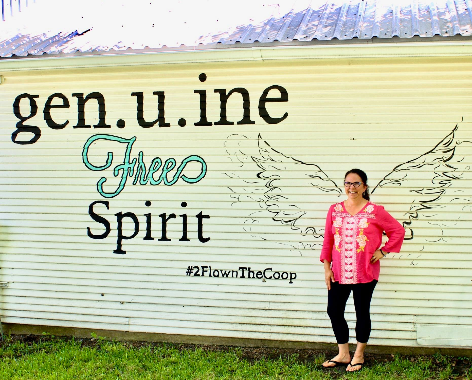 Flown The Coop's Tiffany loves her WINGS, and is excited about the future... especially the liquidation sale June 14-16