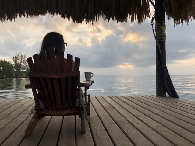 Gadabout Gal witnessing a Belizean sunrises and soaking in God's Goodness