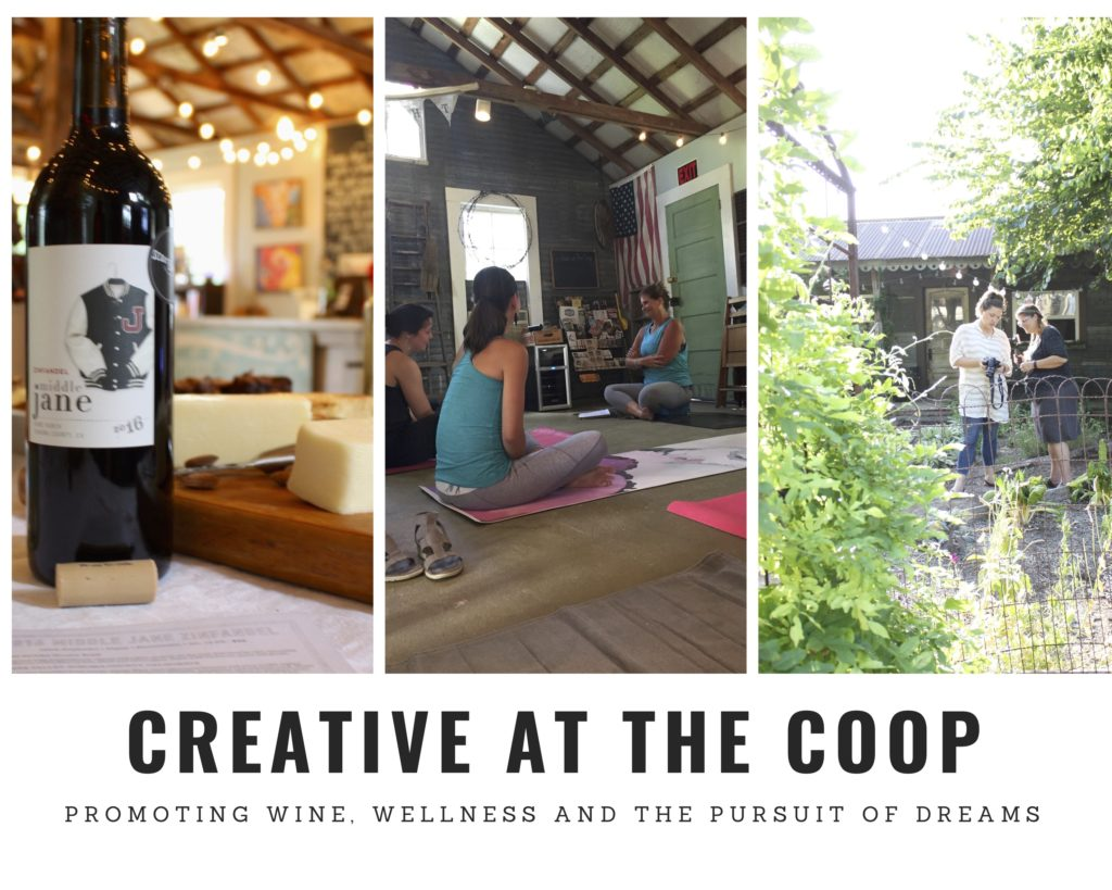 Flown The Coop...Creative At The Coop promoting wine, wellness and the pursuit of dreams. www.2flownthecoop.com