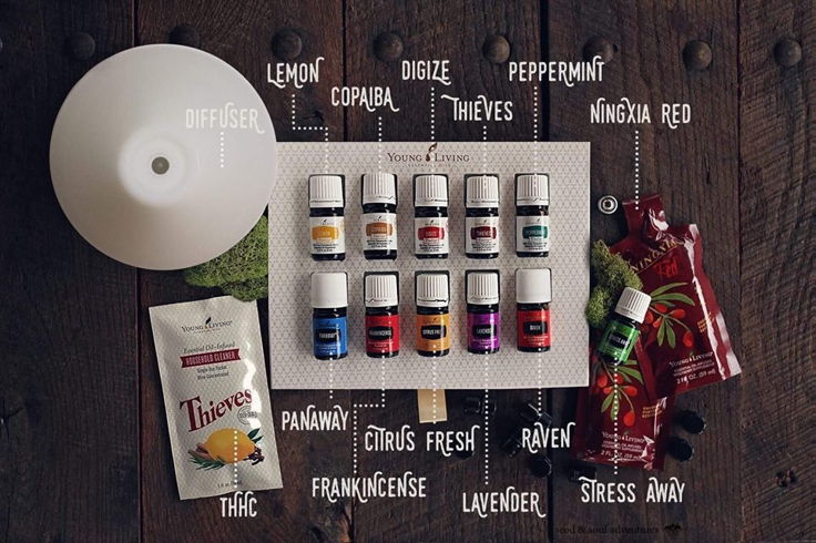 Tiffany's wellness lifestyle includes a membership with Young Living. A whole line of clean products