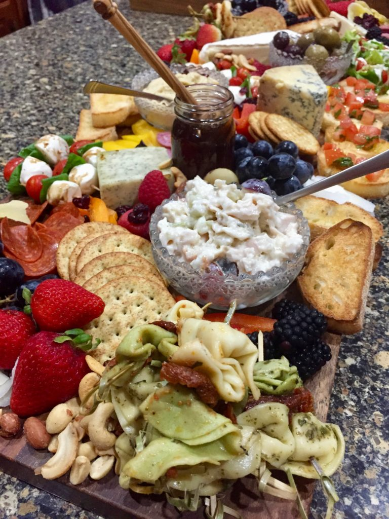 Tiffany Eckhardt, founder of Flown The Coop and Scout & Cellar wine consultant discovers the ease of creatign a charcuterie board.