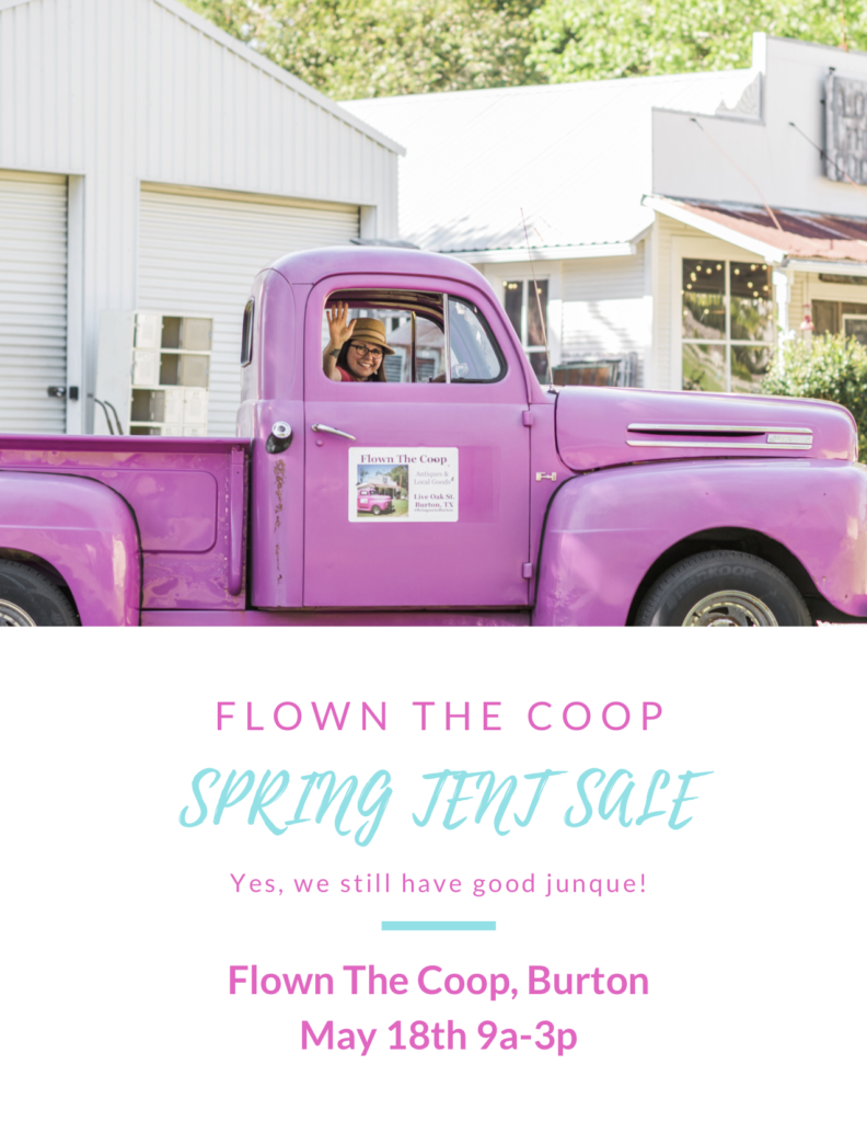 Yes, we still have good junque! Spring Tent Sale May 18, 2019 9a-3p