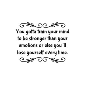 Train your mind for grit